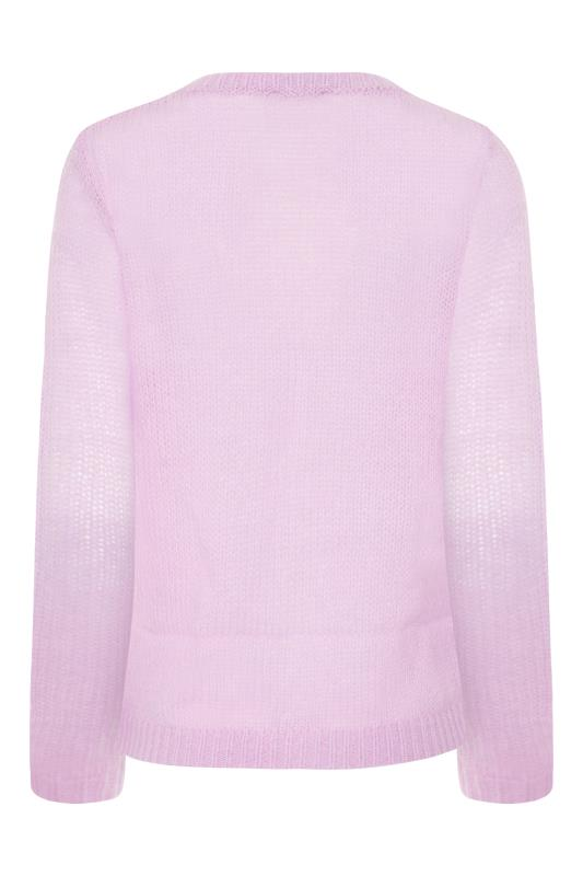 Lilac Textured Knitted Cardigan