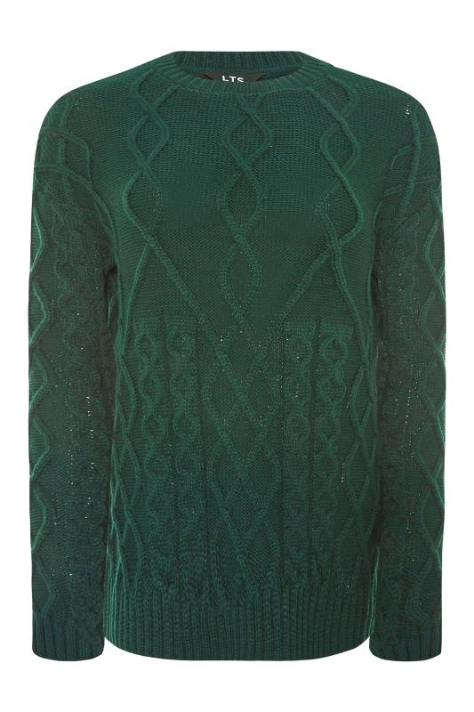 LTS Forest Green Cable Knit Jumper_F.jpg