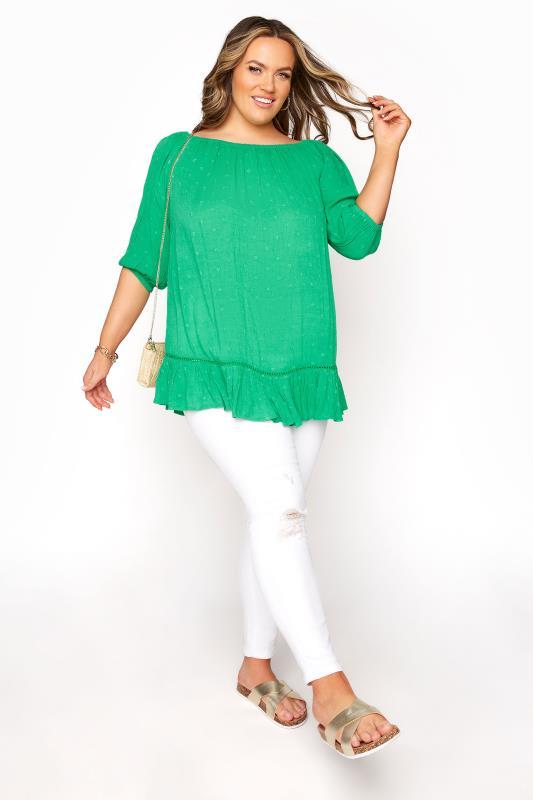Green Bardot Dobby Top_B.jpg