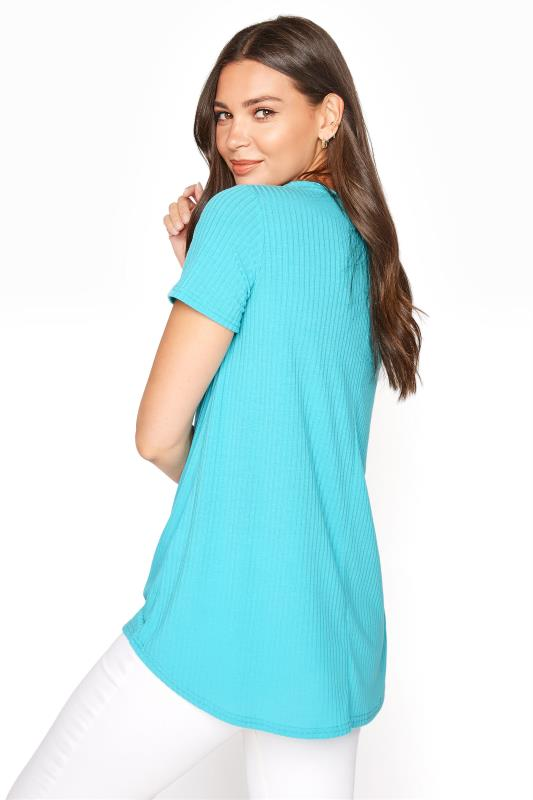 LTS Blue Swing Ribbed Top