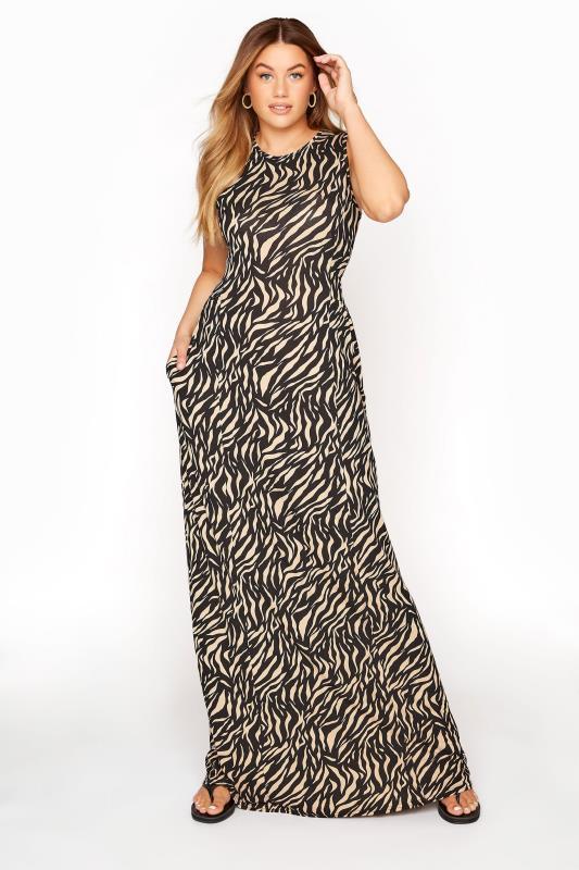 LTS Black Zebra Print Maxi Dress_A.jpg
