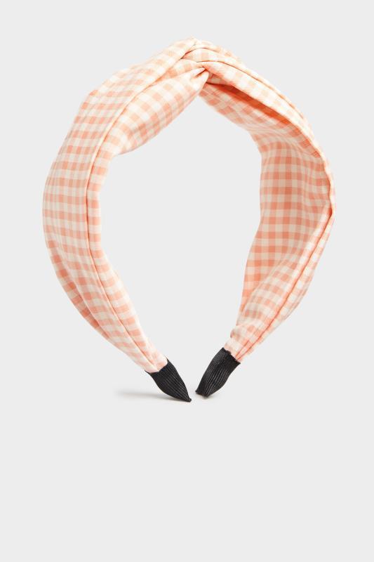 Pink Gingham Twist Headband_F.jpg
