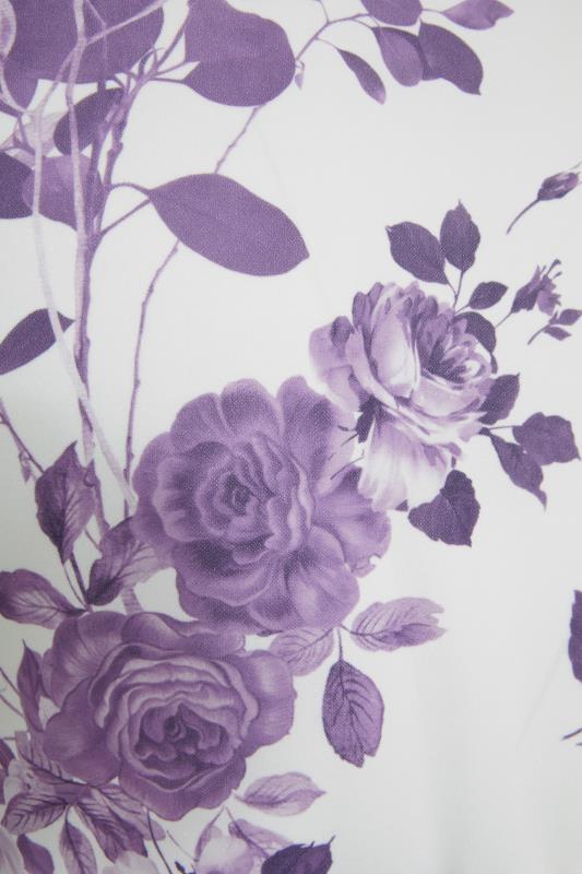 YOURS LONDON Purple Flower Square Neck Peplum Top_S.jpg