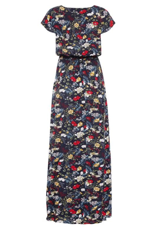 LTS Navy Floral Tie Back Maxi Dress_BK.jpg