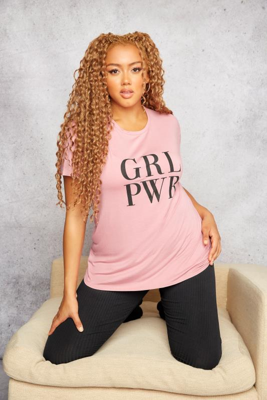 LIMITED COLLECTION Pink Girl Power Slogan T-Shirt