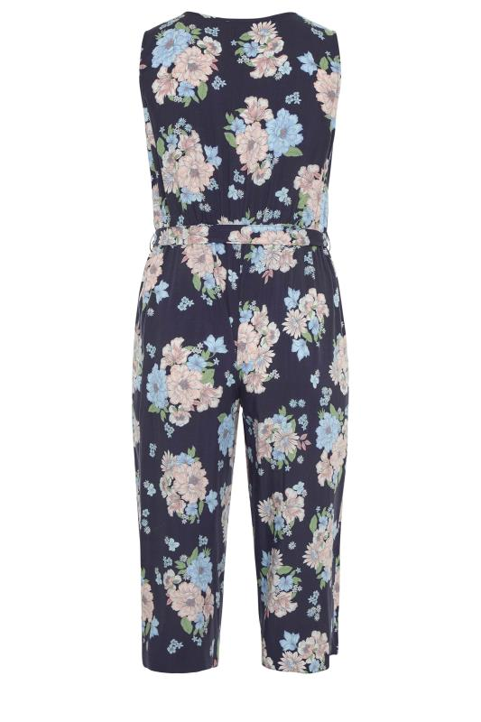 YOURS LONDON Navy Floral Button Crop Jumpsuit_bk.jpg