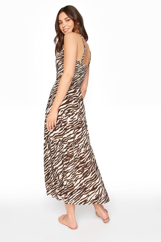 Neutral Animal Print Tiered Shirred Back Summer Dress_C.jpg