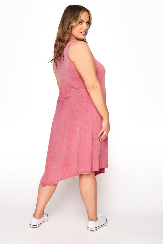 Pink Acid Wash Hanky Hem Sleeveless Dress_C.jpg