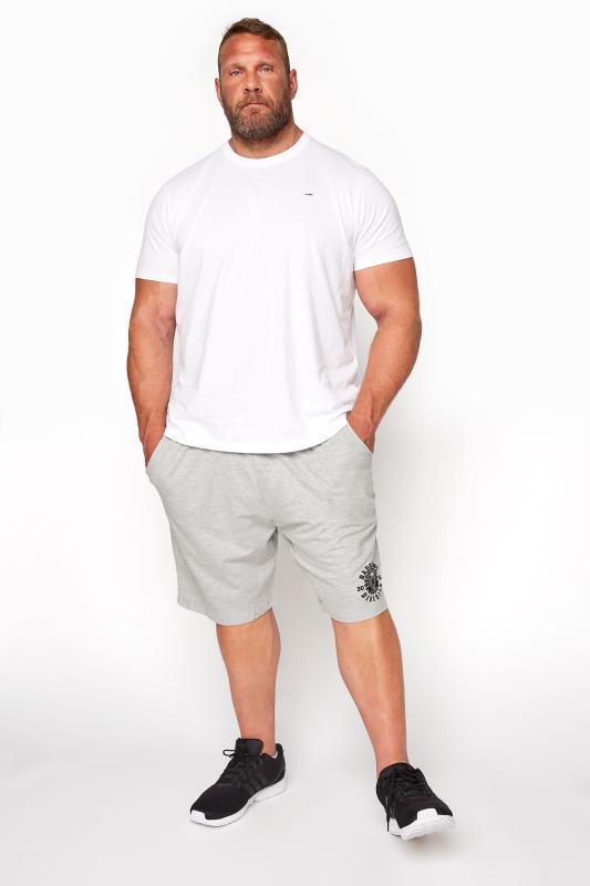 BadRhino Grey Marl Division Jogger Shorts