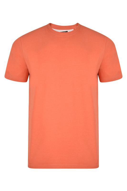 Plus Size  KAM Orange Plain T-Shirt