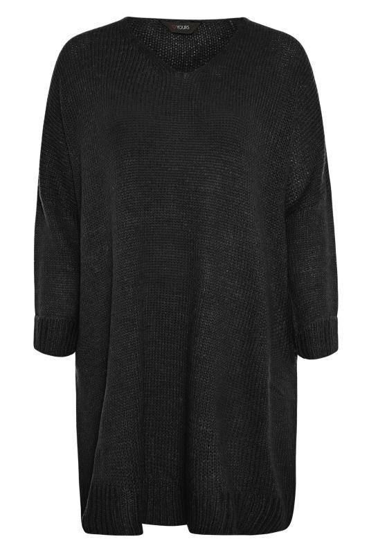 Black Drop Sleeve Knitted Jumper Dress_F.jpg