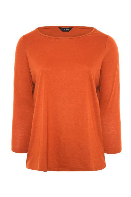 Burnt Orange Scoop Neck T-Shirt_F.jpg