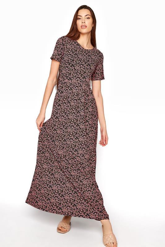 LTS Black Ditsy Midaxi Tiered Dress_A.jpg
