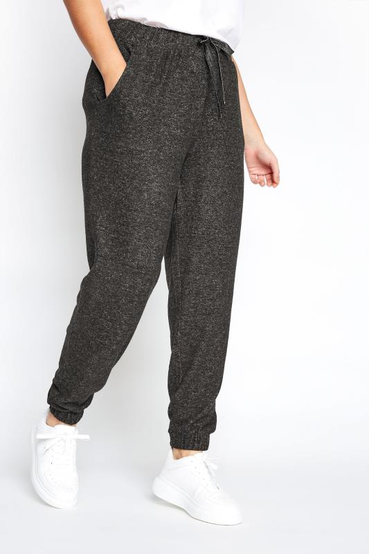Charcoal Grey Marl Brushed Joggers