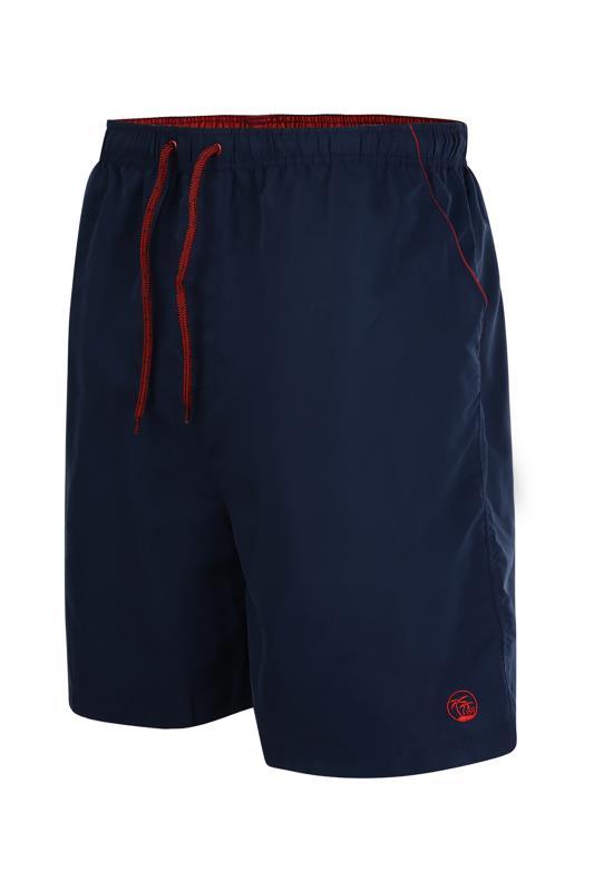 ESPIONAGE Navy Plain Dyed Swimshort