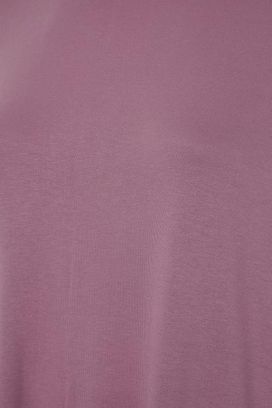 Mauve Dipped Hem Short Sleeved T-Shirt_S.jpg