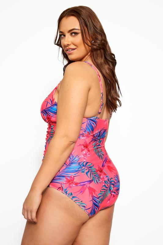 Bright Pink Floral Swimsuit