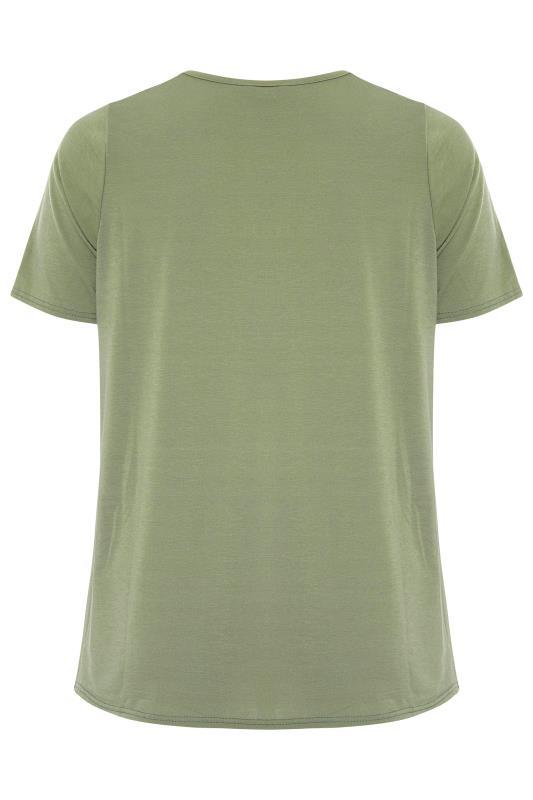 LIMITED COLLECTION Khaki Heart Print T-Shirt_BK.jpg