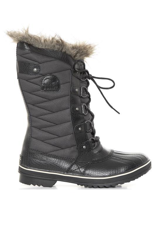 SOREL Tofino II Black Lace Up Faux Fur Winter Boots
