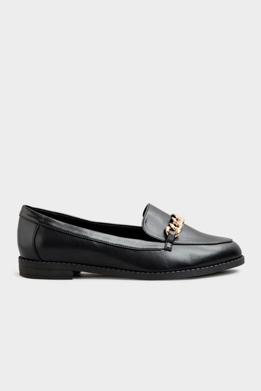 Black Chain Loafers In Extra Wide Fit_B.jpg