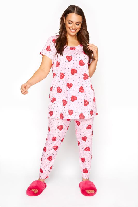 Pink Heart Spot Pyjama Set_A.jpg