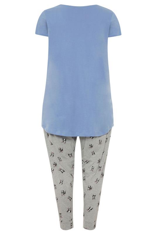 Pale Blue 'Need More Sleep' Slogan Pyjama Set_BK.jpg