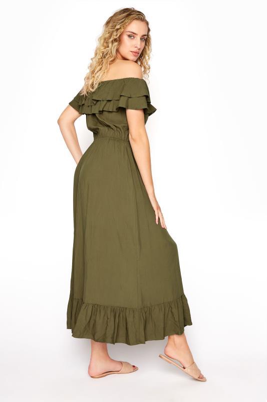 LTS Khaki Double Frill Bardot Midi Dress_C.jpg