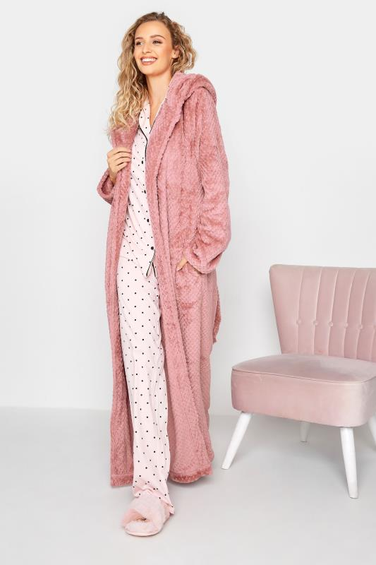 LTS Pink Waffle Hooded Dressing Gown_B.jpg