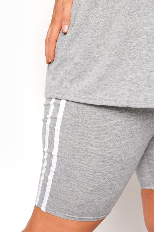 BUMP IT UP MATERNITY Grey Stripe T-shirt & Shorts Set_E.jpg
