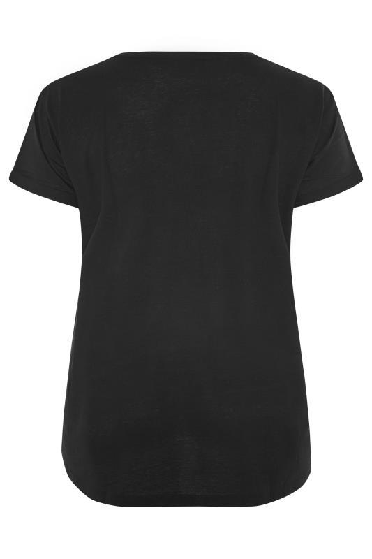 Black Stud Embellished Dipped Hem T-Shirt_BK.jpg