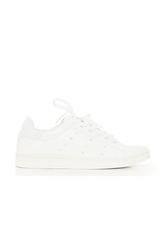 White Casey Galaxy Trainers