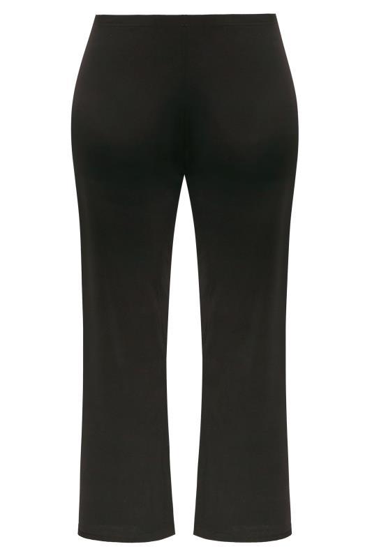 Black Wide Leg Stretch Jersey Trousers