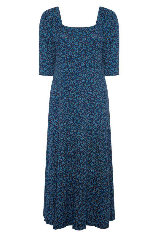 LIMITED COLLECTION Cobalt Blue Ditsy Maxi Dress_BK.jpg