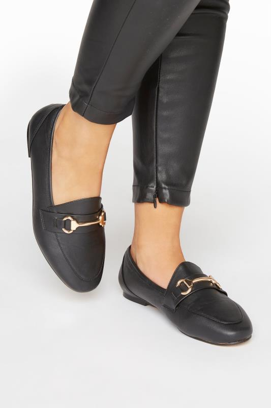 Black Metal Trim Loafer In Extra Wide Fit