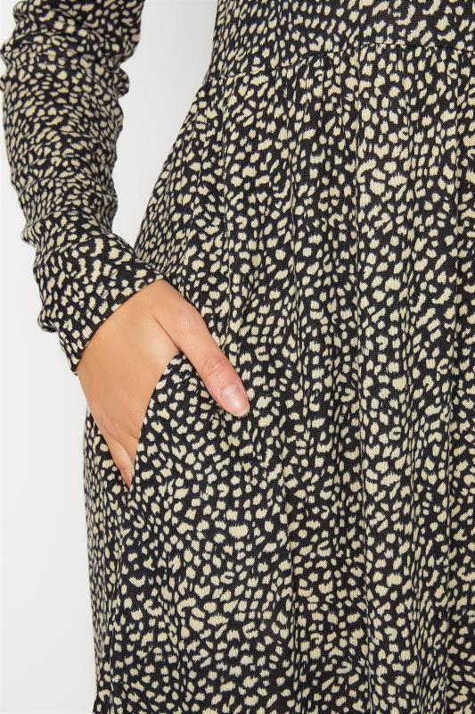 LTS Black Animal Print Soft Touch Midi Dress_D.jpg