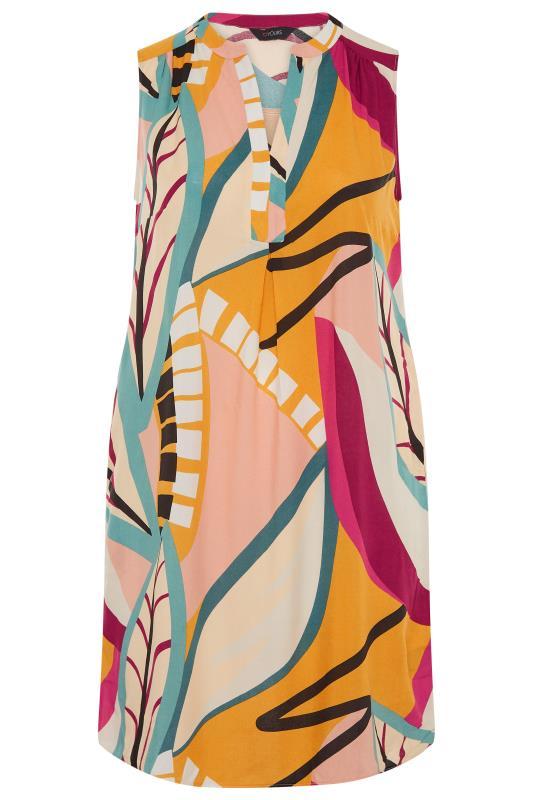 Beige Abstract Midi Dress_F.jpg