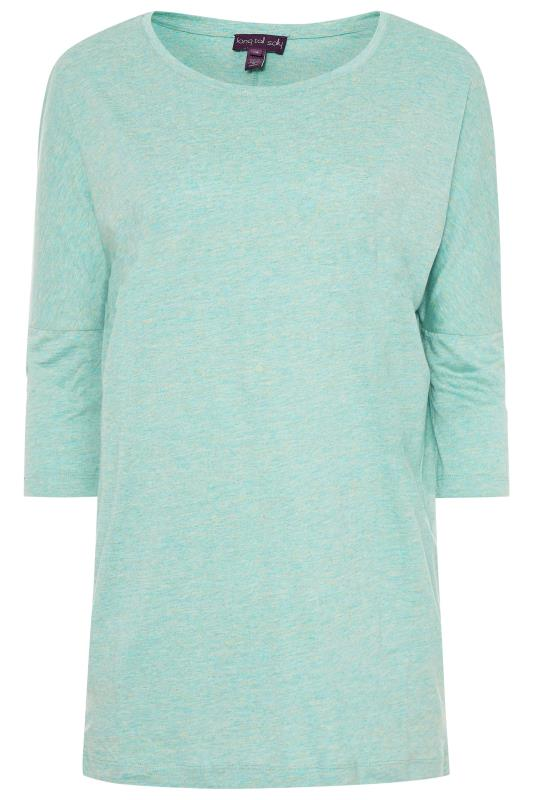 Green Marl Batwing Top