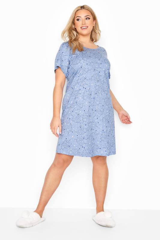 Pale Blue Heart Constellations Nightdress