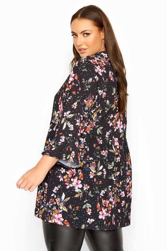 LIMITED COLLECTION Black Floral Smock Shirt