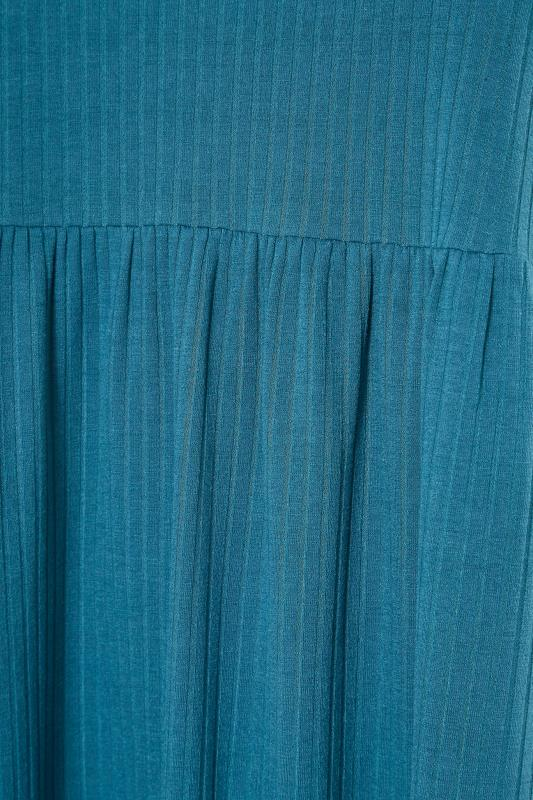 LIMITED COLLECTION Blue Ribbed Midi Dress_S.jpg