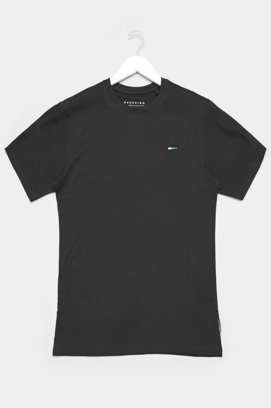 Men's Casual / Every Day BadRhino Black Plain T-Shirt