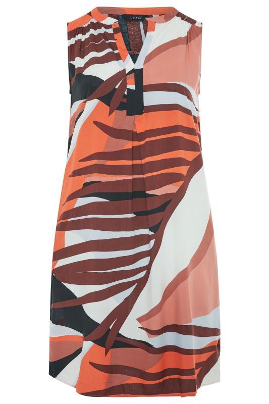 Rust Orange Abstract Midi Dress_F.jpg