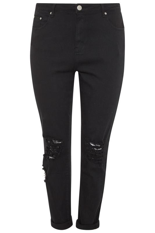 Black Ripped Knee Skinny AVA Jeans