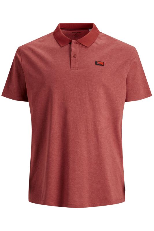 JACK & JONES Red Schultz Logo Polo Shirt