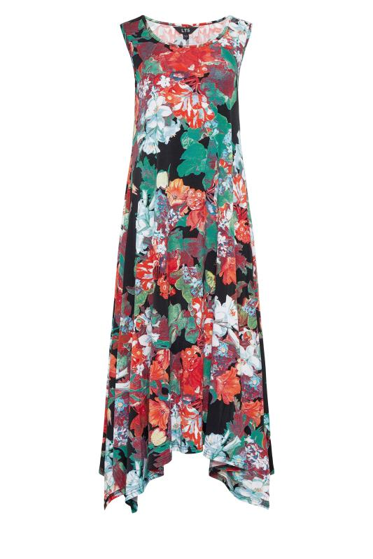 LTS Multi Floral Hanky Hem Sleeveless Dress_f.jpg