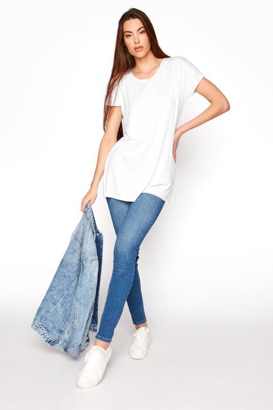 LTS White Soft Touch Grown On Sleeve T-Shirt_B.jpg