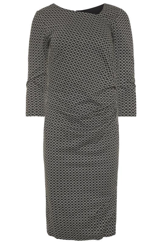 Black Geometric Jacquard Dress