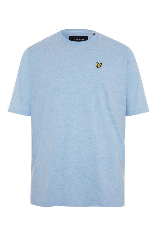 Men's  LYLE & SCOTT Blue Marl Crew Neck T-Shirt