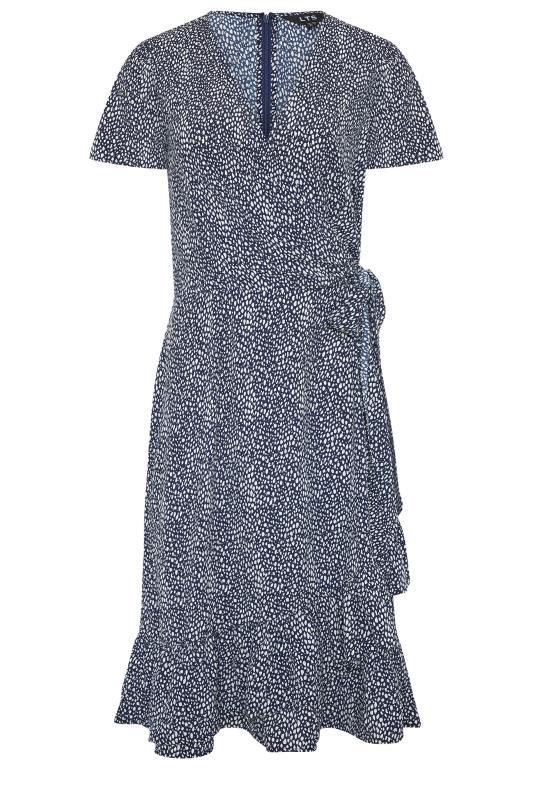 LTS Blue Leopard Print Frill Wrap Dress_f.jpg