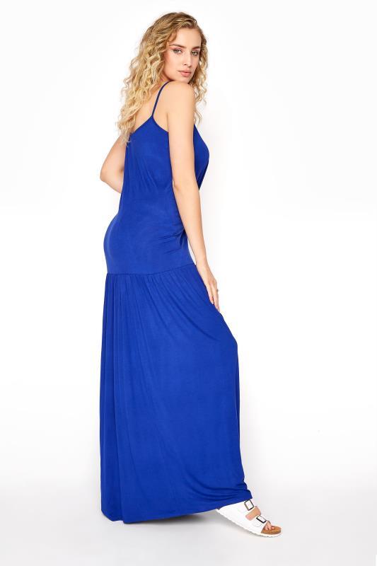 LTS Cobalt Blue Strappy Drop Waist Maxi Dress_C.jpg